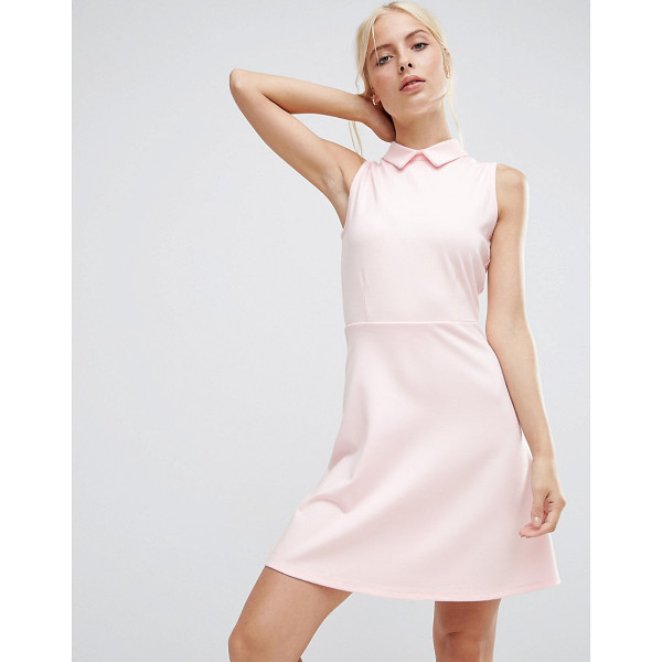 """ASOS Mini Skater Dress with Collar in Ponte - """"""""Skater dress by ASOS Collection, Soft-touch ponte, Point..."""