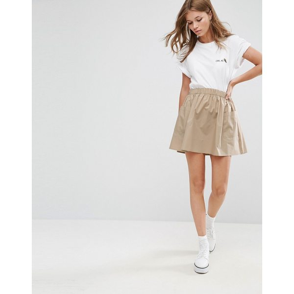 "ASOS Mini Skater Skirt in Cotton Poplin with Pockets - """"Skirt by ASOS Collection, Woven cotton, High rise,..."