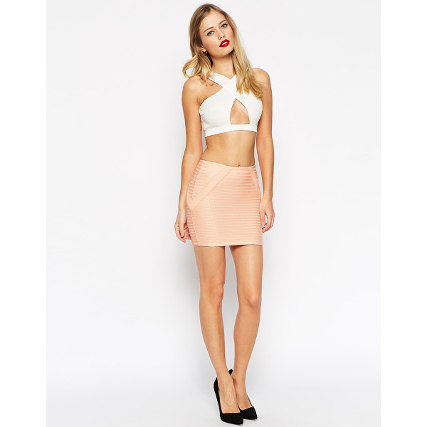ASOS Mini skirt in bandage rib - Skirt by ASOS Collection, Firm stretch fabric, Bandage...