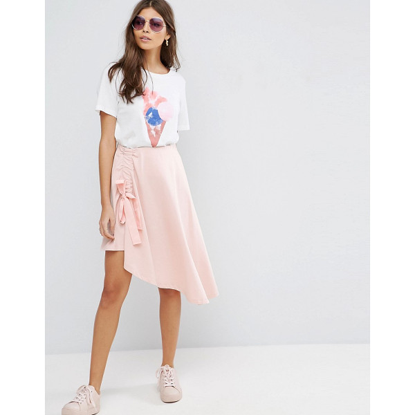 """ASOS Mini Skirt with Asymmetic hem - """"""""Mini skirt by ASOS Collection, Cotton jersey, High-rise..."""