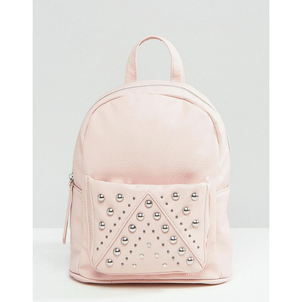 ASOS Mini Studded Backpack - Backpack by ASOS Collection, Faux leather outer, Single