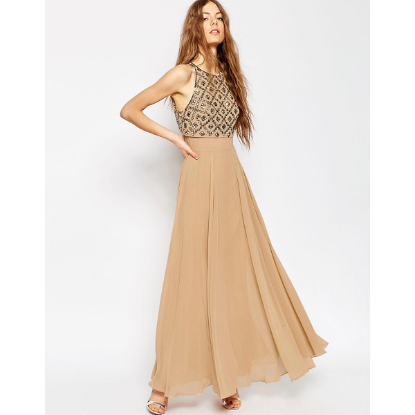 ASOS Mirror Crop Top Maxi Dress - Maxi dress by ASOS Collection, Woven fabric, Embellished...