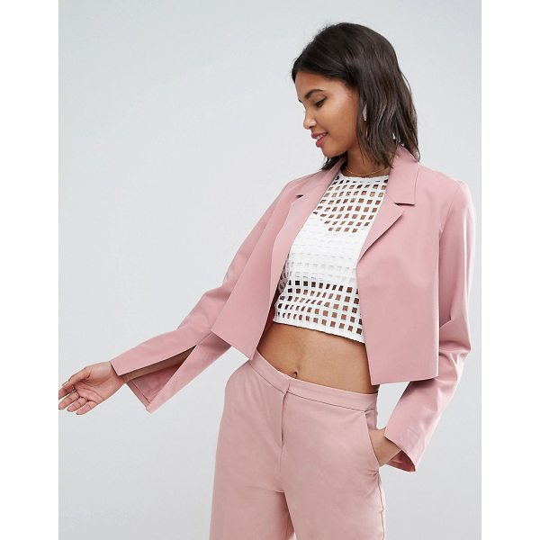 "ASOS Mix & Match Crop Blazer - """"Blazer by ASOS Collection, Woven fabric, Notch lapel,..."