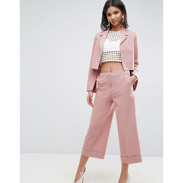 ASOS Mix & Match Tailored Culotte - Culottes by ASOS Collection, Woven fabric, High rise, Zip...