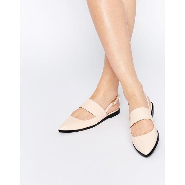ASOS MOTION Pointed Flat Shoes - Flat shoes by ASOS Collection, Leather-look upper, Patent...