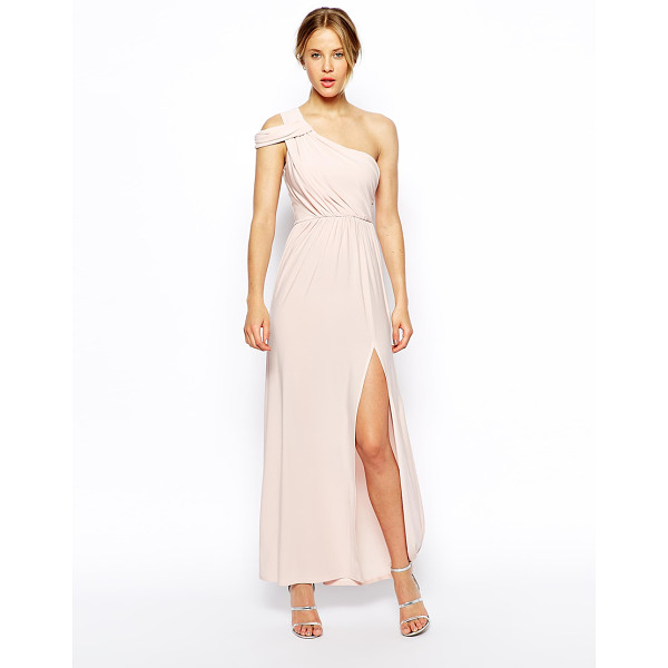 ASOS One shoulder drape maxi dress - Machine Wash According To Instructions On Care Label. Main:...