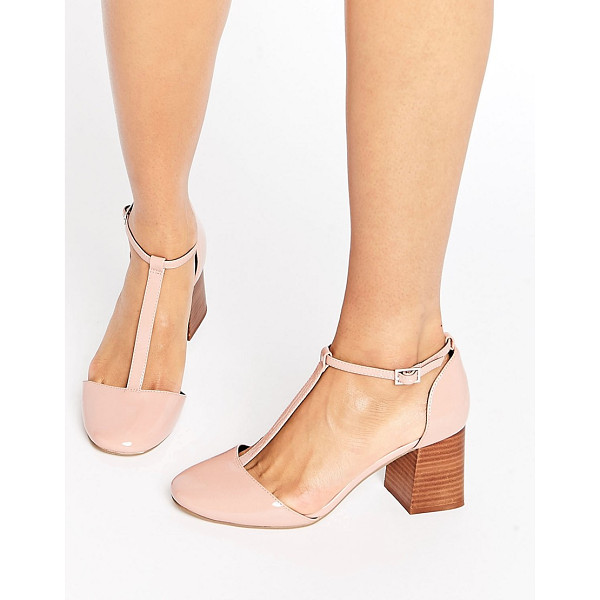 ASOS ONE WISH T-Bar Heels - Heels by ASOS Collection, Patent faux-leather upper,
