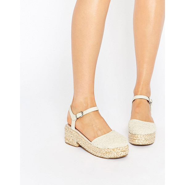 ASOS Opal flatform shoes - Flat shoes by ASOS Collection Textile upper Pin buckle...