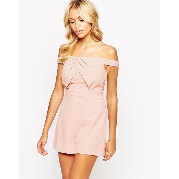 ASOS Origami bardot romper - Romper by ASOS Collection, Soft-touch woven fabric, Unlined...