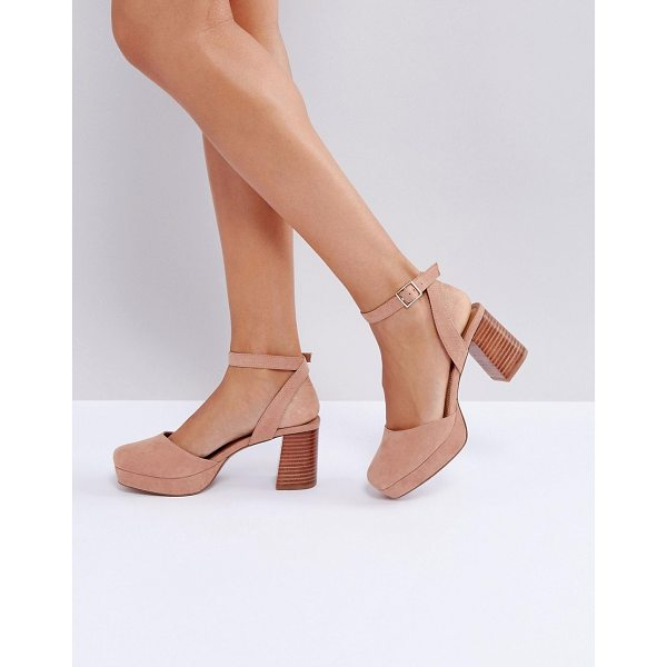 ASOS OSTON Heeled Shoes - Heels by ASOS Collection, Textile upper, Ankle-strap