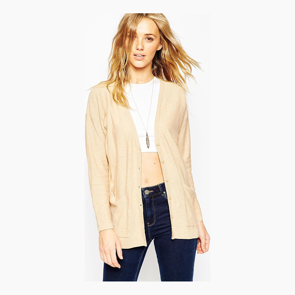 ASOS Oversized cardigan in fine knit - Cardigan by ASOS Collection Lightweight fine knit...