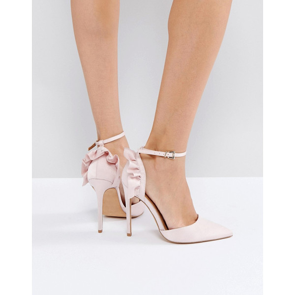 ASOS PALOMA Frill Pointed High Heels - Heels by ASOS Collection, Textile upper, Ankle-strap...