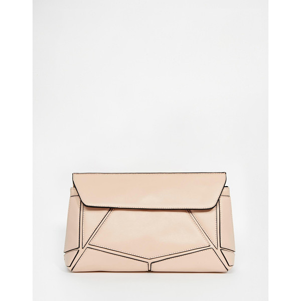 ASOS Panel clutch bag - Clutch bag by ASOS Collection Smooth leather-look fabric...