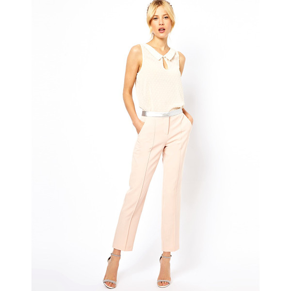 ASOS Pants with metallic waistband - Pants by ASOS Collection - Made from poly fabric - Fitted...