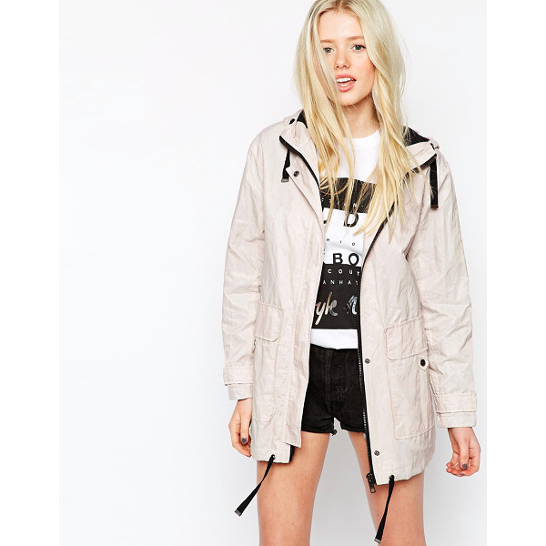 ASOS Parka in Soft Metallic Finish with Contrast Trims - Parka by ASOS Collection, Lightweight, lined twill,...