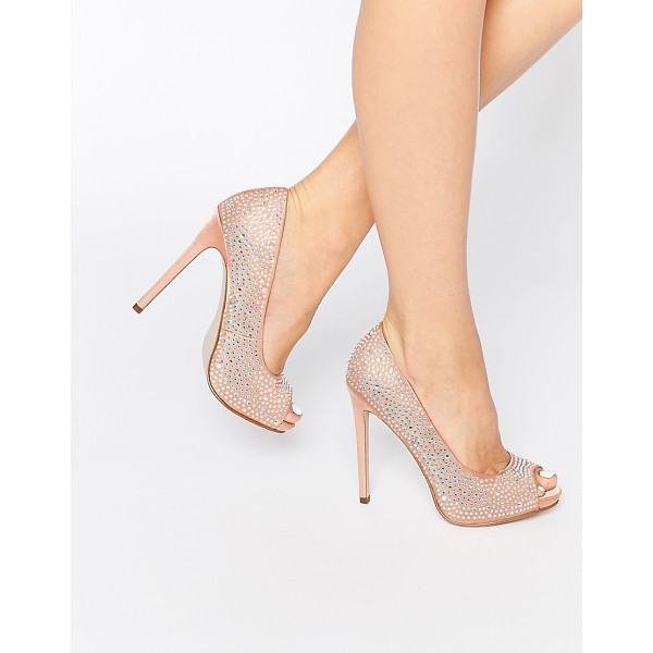 ASOS PEARL Peep Toe Platforms - Platform shoes by ASOS Collection, Embellished textile...