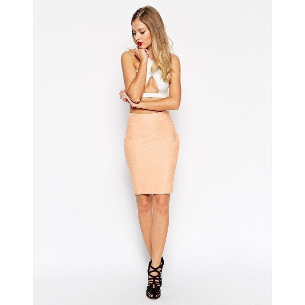 ASOS Pencil skirt in bandage rib - Skirt by ASOS Collection Mid-weight firm-stretch fabric...