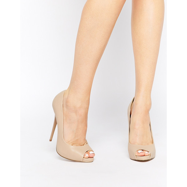 ASOS Penzance high heels with peep toe - Heels by ASOS Collection Leather-look upper Peep toe design...