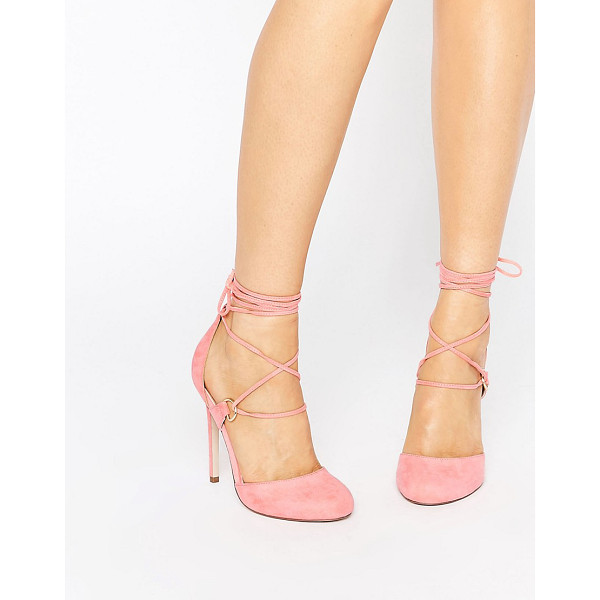 ASOS PERSEVERE Lace Up High Heels - Heels by ASOS Collection, Faux-suede upper, Lace-up...