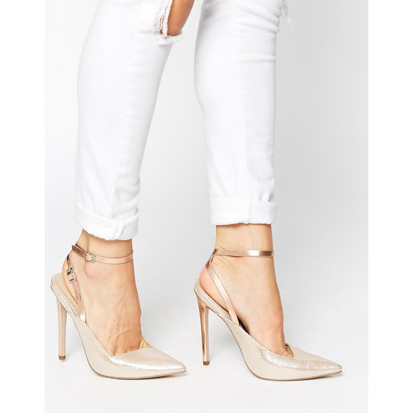 ASOS Play on words pointed high heels - Heels by ASOS Collection, Textured, leather-look upper,...