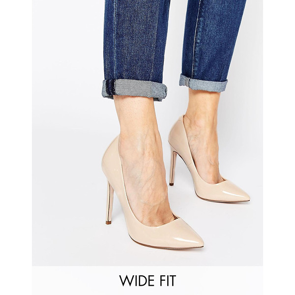 ASOS PLAYFUL Wide Fit Pointed Heels - Heels by ASOS Collection, Patent leather-look fabric, High