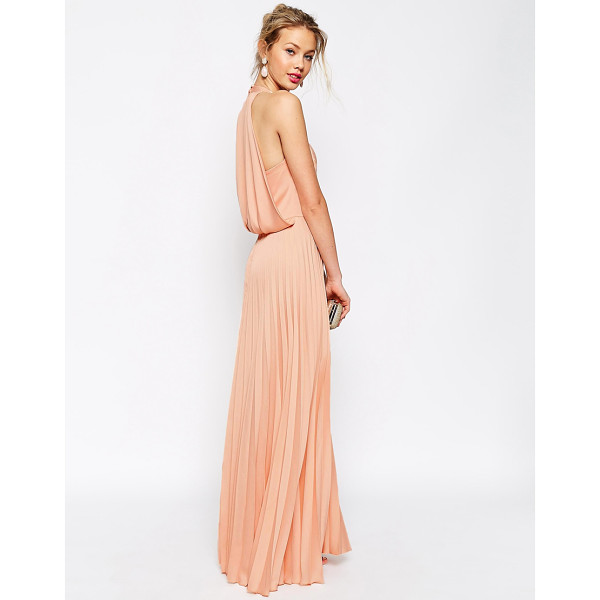 ASOS Pleat deep plunge maxi dress - Dress by ASOS Collection Mid-weight satin Deep v-neckline...