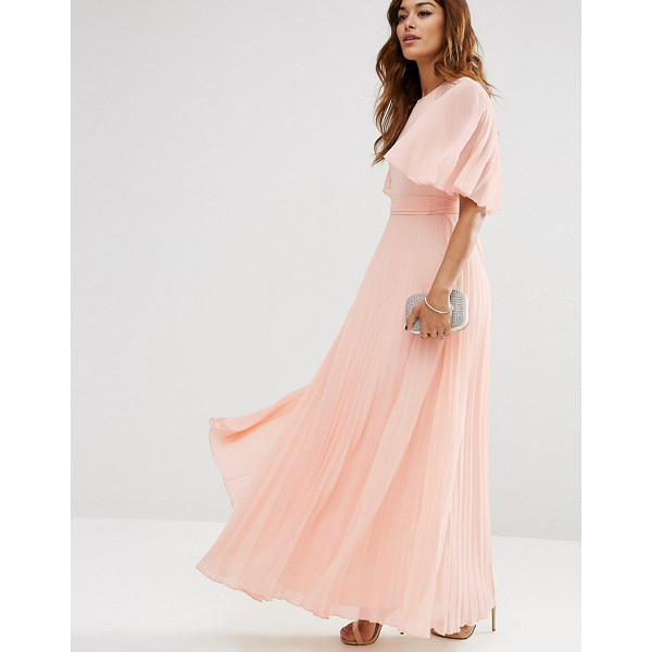 ASOS Pleated Flutter Sleeve Caftan Maxi Dress - Maxi dress by ASOS Collection, Lightweight pleated chiffon,...