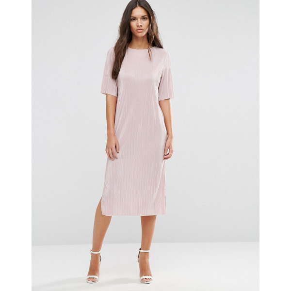 ASOS Pliss T-shirt Dress - Midi dress by ASOS Collection, Slinky pleated fabric,...