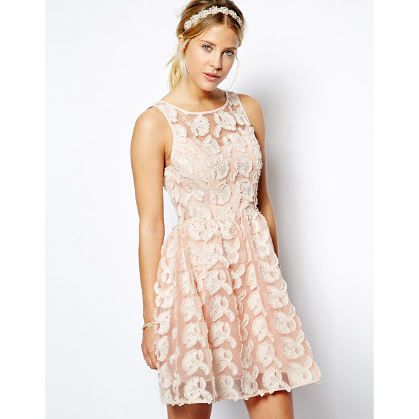 ASOS Premium floral skater dress in texture with bow back - Hand Wash Only. Fabric: 83% Polyester, 17% Nylon Lining 1:...