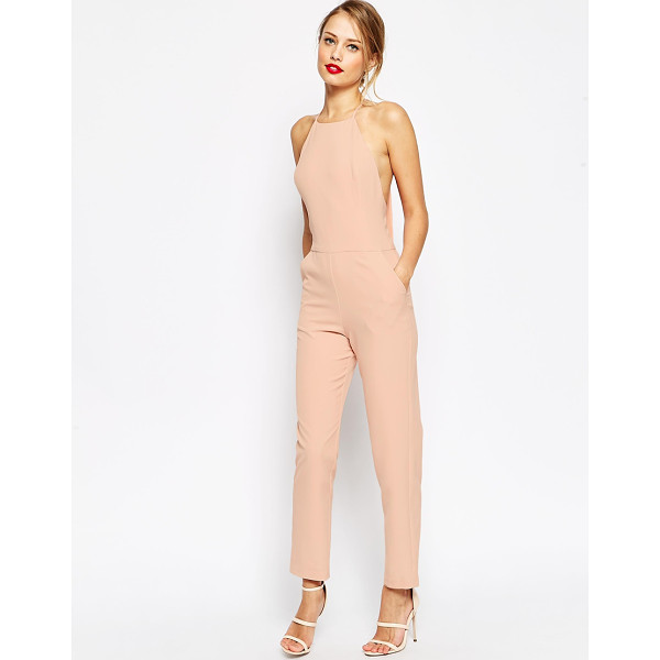 ASOS Premium halter neck jumpsuit - Jumpsuit by ASOS Collection Smooth, woven fabric High...