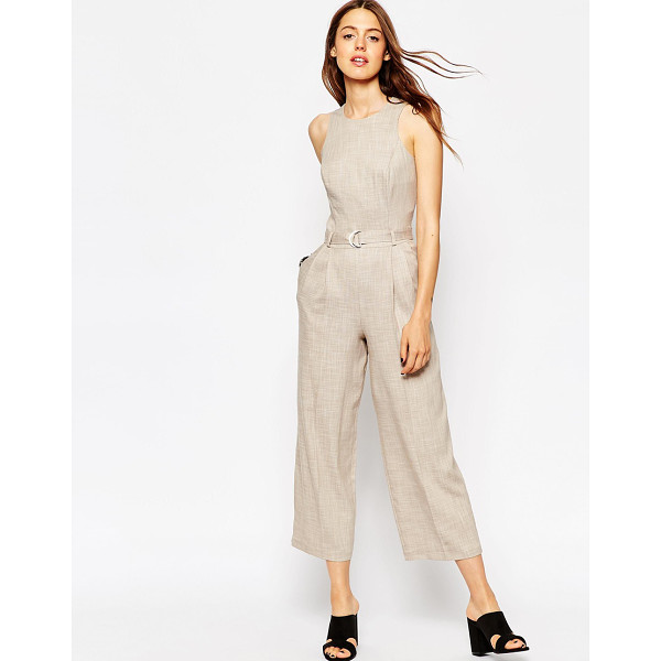 ASOS Premium texture jumpsuit with d-ring detail - Jumpsuit by ASOS Collection Textured fabric Stitch dart...