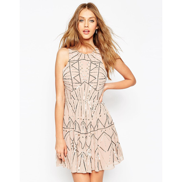 ASOS Pretty Skater Dress With Metal Embellishment - Evening dress by ASOS Collection, Heavyweight lined...