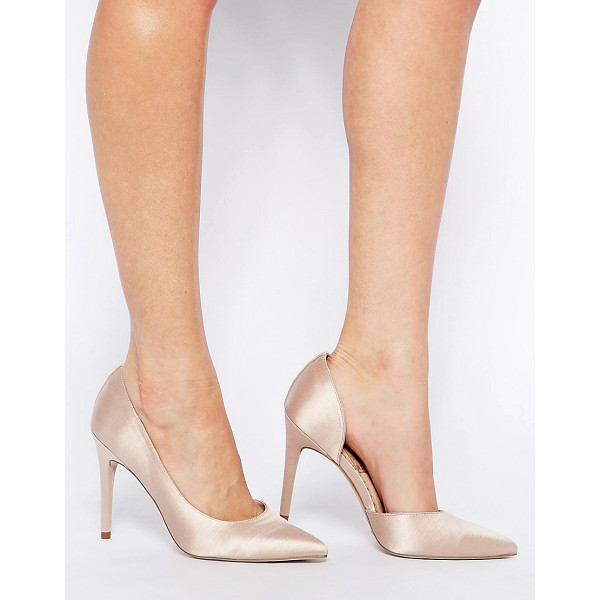 ASOS Proposition pointed high heels - Heels by ASOS Collection, Satin-effect upper, Cut-away side...