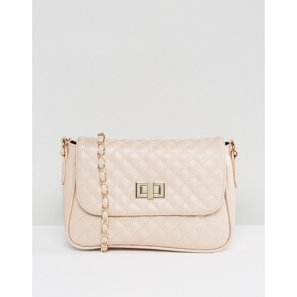 "ASOS Quilted Lock Cross Body Bag - """"Bag by ASOS Collection, Faux-leather outer, Fully lined,"
