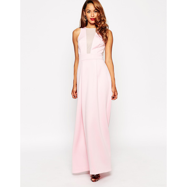 ASOS Red carpet scuba mesh maxi dress - Maxi dress by ASOS Collection Smooth scuba-style fabric...
