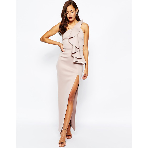 ASOS RED CARPET Scuba One Shoulder Folded Maxi Dress - Maxi dress by ASOS Collection, Soft-touch scuba fabric,...