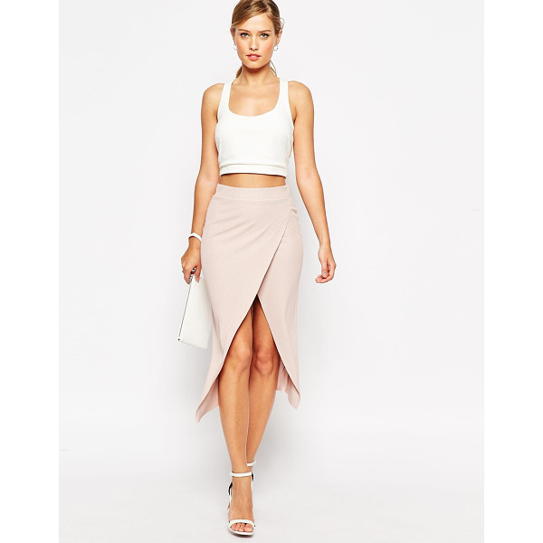 ASOS Rib wrap midi pencil skirt - Pencil skirt by ASOS Collection, Smooth stretch fabric,...