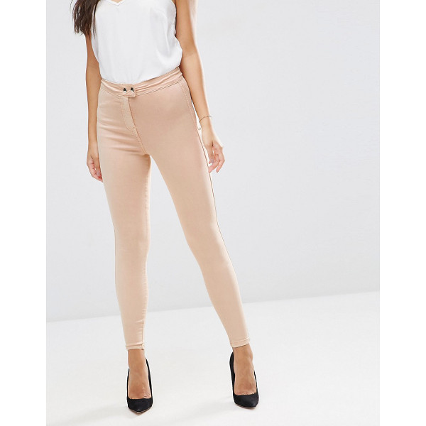 "ASOS RIVINGTON High Waisted Denim Jeggings in Nude - """"Rivington jeggings by ASOS Collection, Smooth lightweight..."