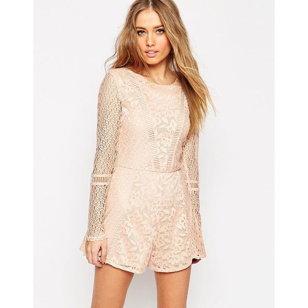 ASOS Romper in pretty patched lace - Romper by ASOS Collection Lined lace Scoop neckline...