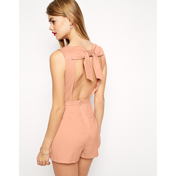ASOS Romper with Bow Back - Romper by ASOS Collection, Silky feel, lightly textured...
