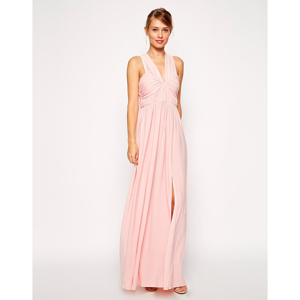 ASOS Ruched cross strap maxi dress - Dress by ASOS Collection, Silky feel, lightly textured,...