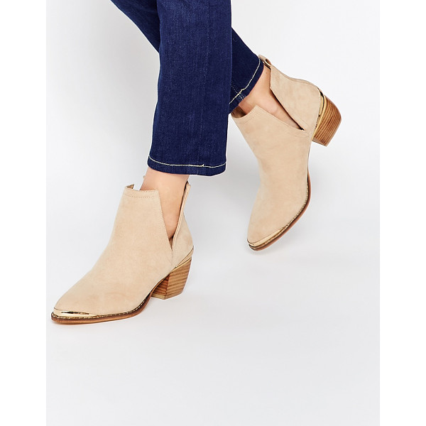 ASOS Rumble pointed ankle boots - Boots by ASOS Collection Suede-look upper Pull-on style...