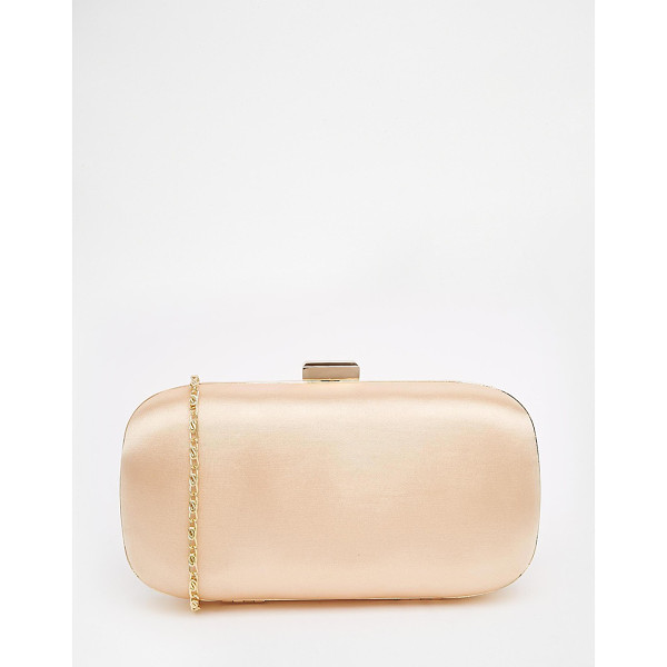 ASOS Satin box clutch bag - Clutch bag by ASOS Collection Smooth silky-feel outer Box...