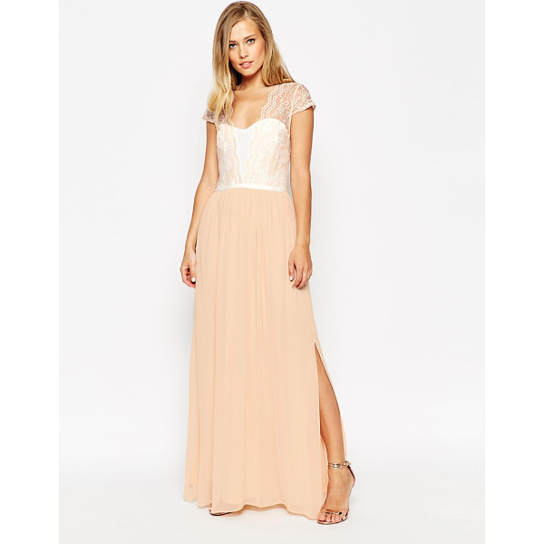 ASOS Scalloped Lace Maxi Dress - Maxi dress by ASOS Collection, Lightweight, lined fabric,...