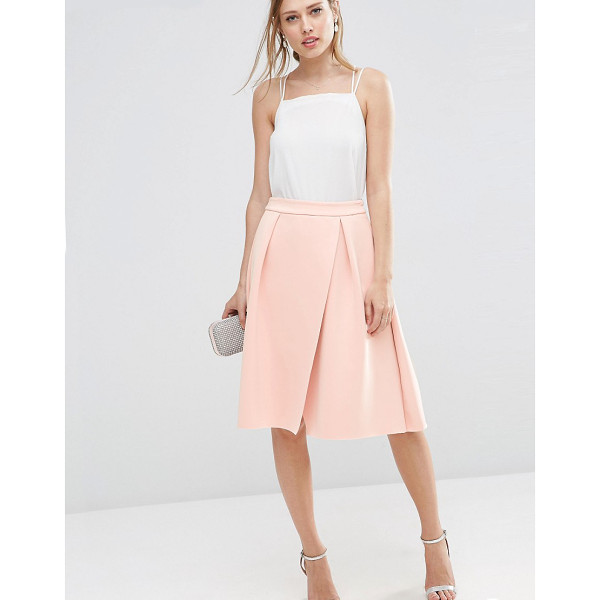 """ASOS Scuba Prom Skirt with Wrap - """"""""Skirt by ASOS Collection, Stretch scuba fabric, Mid-rise..."""