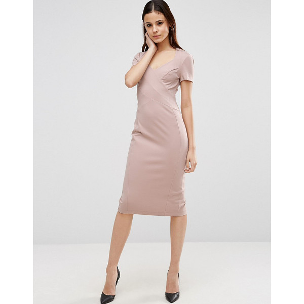 ASOS Sculpt Pencil Dress with Short Sleeve - Pencil dress by ASOS Collection, Thick stretch fabric,...