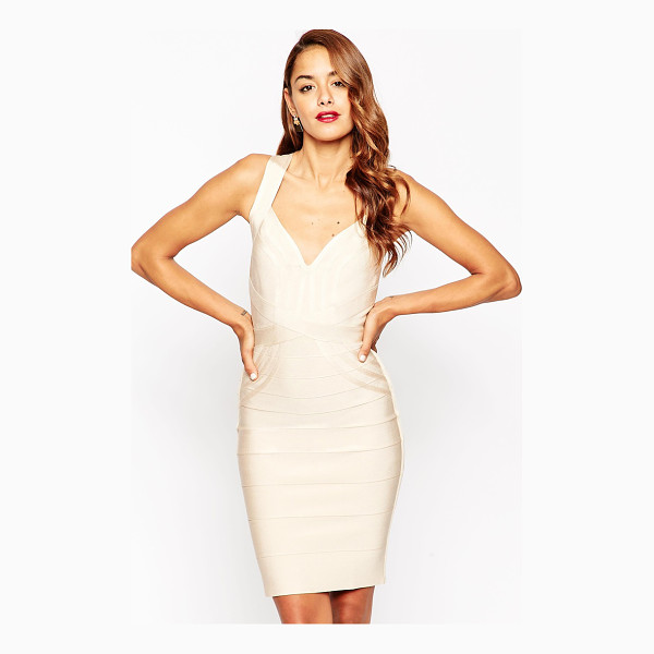ASOS Sculpt premium bandage premium bandage curved panel midi body-conscious dress - Body-Conscious dress by ASOS Collection, Textured, stretch...