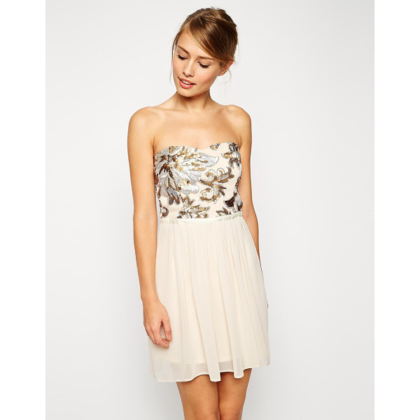 ASOS Sequin bodice mini dress - Dress by ASOS Collection Bandeau neckline Mesh bodice with...