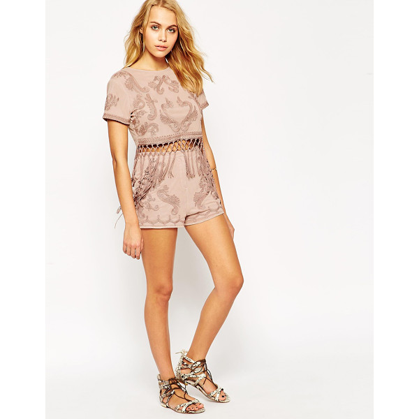 ASOS Shorts co-ord with cornelli embroidery - Shorts by ASOS Collection Soft touch jersey High-rise waist...