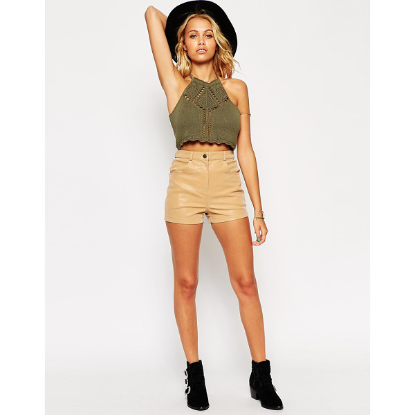 ASOS Shorts in Suede Look - Shorts by ASOS Collection, Lightweight, suede-look fabric,...